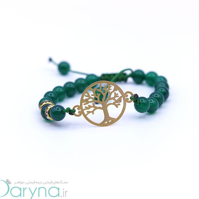دستبند طلا طرح درخت کد 0611.1.1.62