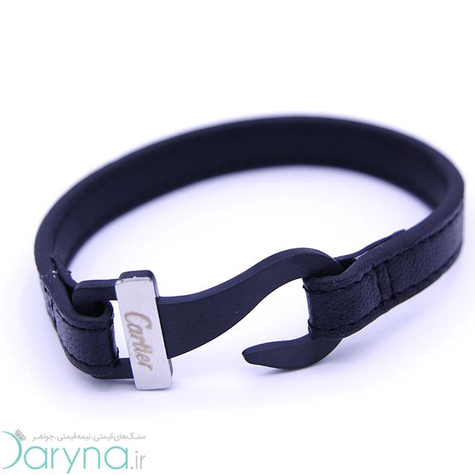 دستبند چرم و استیل کدD010