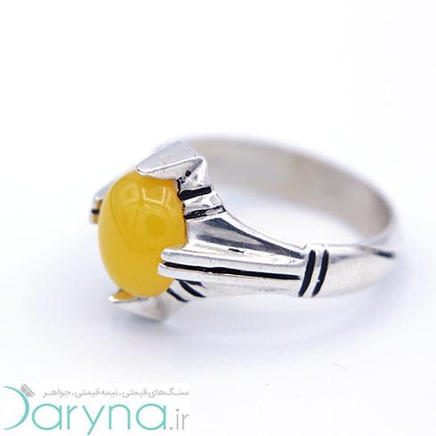 انگشتر مردانه شرف الشمس مدل 4 چنگ کوچک کد A002